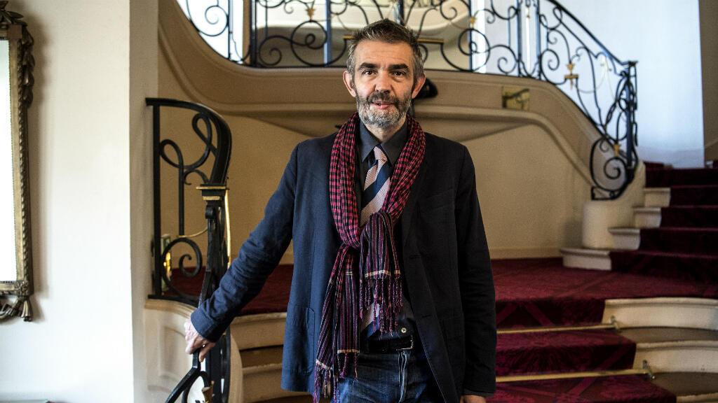 Philippe Lançon a reçu le prix Femina, lundi 5 novembre 2018, au Cercle de l'Union interalliée à Paris.