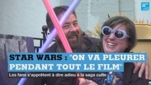"""Des fans de Star Wars qui campent depuis une semaine devant le cinéma de Los Angeles qui projettera, jeudi, le dernier opus de la saga, """"L'Ascension de Skywalker"""""""