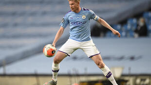 Le milieu de terrain belge de Manchester City Kevin De Bruyne, contre Liverpool, le 2 juillet 2020