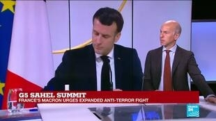 2021-02-16 12:55 G5 Sahel summit: Macron sketches drawdown plan but no 'immediate' cut