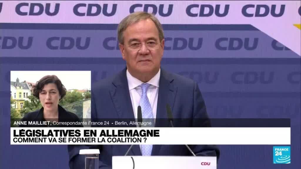 2021-09-27 14:31 Législatives en Allemagne : Armin Laschet reste prêt à des discussions avec Verts et FDP