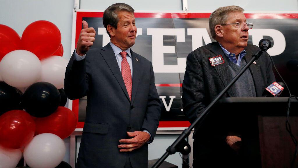 Le républicain Brian Kemp, ainsi que Ron DeSantis et Marsha Blackburn, ont tous les trois reçu le soutien personnel du président Donald Trump lors des élections américaines de mi-mandat.