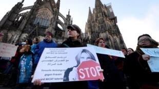 مظاهرة في كولونيا استنكارا للاعتداءات التي طالت النساء 9 يناير 2016