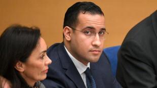 Alexandre Benalla lors de sa dernière audition au Sénat, le 21 janvier 2019.