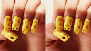 Les fans de nail art et amoureux de fromage seront ravis.