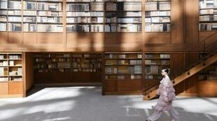 Chanel created a rotunda worthy of the British Library inside the Grand Palais for its Paris haute couture show