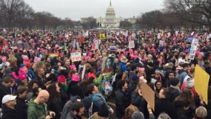 À Washington le 21 janvier 2017, 500 000 femmes sont descendues dans les rues pour protester contre l'arrivée au pouvoir de Donald Trump.