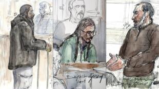 Peter Cherif, lors de son procès en janvier 2011, Farid Benyettou en mars 2008 et Djamel Beghal en octobre 2014.
