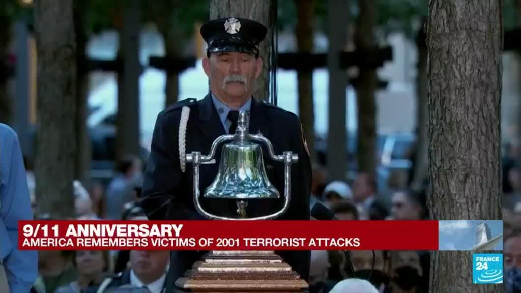 2021-09-11 15:03 Second moment of silence held at New York service for 9/11 dead
