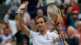 Richard Gasquet se hisse pour la deuxième fois de sa carrière en demi-finale de Wimbledon.