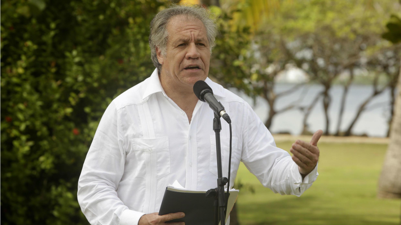 El secretario general de la Organización de Estados Americanos (OEA), Luis Almagro, estuvo de visita en Colombia durante tres días. 13 de septiembre de 2018.