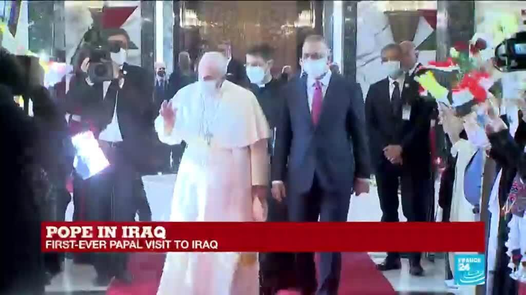 2021-03-05 12:15 Pope Francis 'happy' to land in Iraq on historic 4-day visit