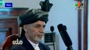 Ashraf Ghani, le 22 septembre à Kaboul.