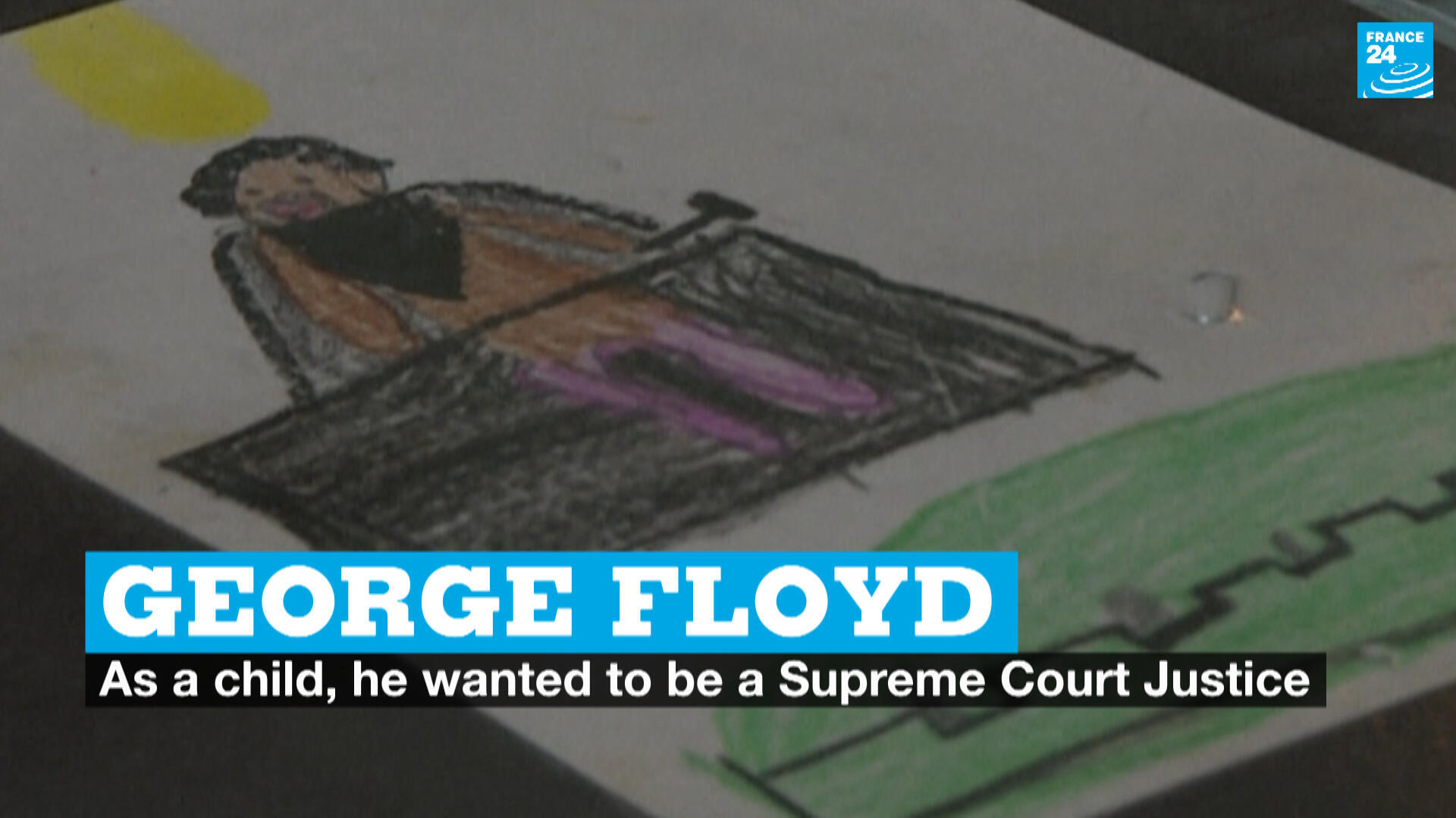 Waynel Sexton, George Perry Floyd's former teacher, found a short essay and drawing that he did in second grade. At the time, he dreamed of becoming a Supreme Court Justice.
