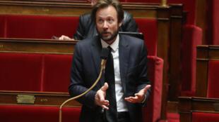Boris Vallaud, porte-parole du PS, à l'Assemblée nationale, le 21 mars 2020 à Paris