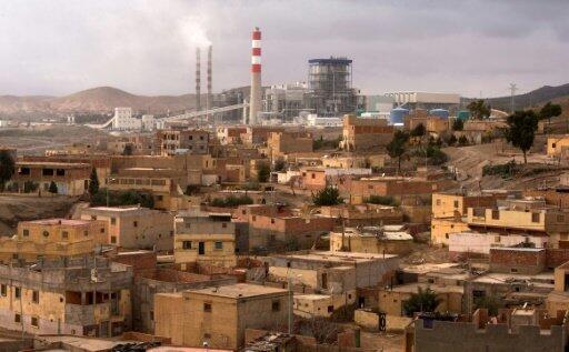 مدينة جرادة في شمال شرق المغرب في 27 كانون الأول/ديسمبر 2017