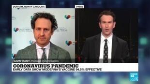 2020-11-16 22:05 Coronavirus Pandemic, early data show Moderna's vaccine 94.5% effective