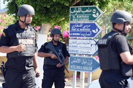 نقطة تفتيش للشرطة في سوسة 27 يونيو 2015