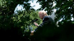 Donald Trump présente son projet de refonte de la politique migratoire des États-Unis à la Maison Blanche, le 16 mai 2019.