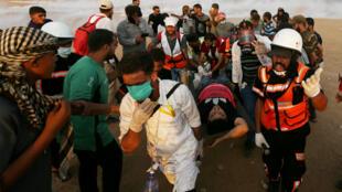 Más de 50 heridos y dos palestinos muertos deja la jornada de protestas en la Franja de Gaza, el 5 de octubre de 2018.