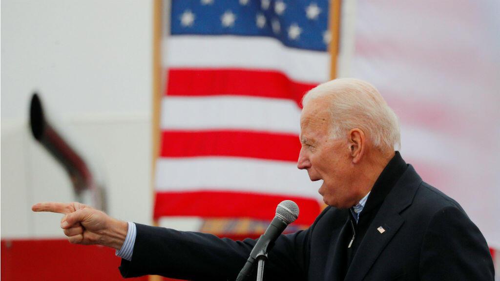 El exvicepresidente de Estados Unidos, Joe Biden, candidato potencial a la presidencia por el Partido Demócrata en 2020, habla en una huelga de Stop & Shop en Boston, Massachusetts, EE. UU., el 18 de abril de 2019.
