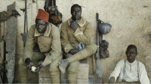 Des militaires sénégalais à Saint-Ulrich (Haut-Rhin), 16 juin 1917.