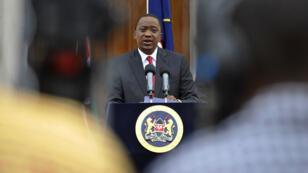 Le président kényan Uhuru Kenyatta lors d'un discours, le 2 décembre 2014 à Nairobi.