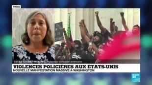 2020-08-28 23:01 Violences policières aux Etats-Unis : nouvelle manifestation à Washington