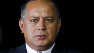 El número dos del gobernante PSUV, Diosdado Cabello, figura en la lista de altos cargos a los que la UE prevé sancionar. Archivo.