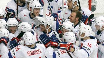 L'équipe de France de Hockey lors des Championnats du Monde 2012