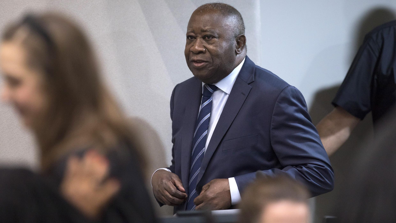 L'ex-président ivoirien Laurent Gbagbo lors d'une audience à la CPI, le 15 janvier 2019 à La Haye.