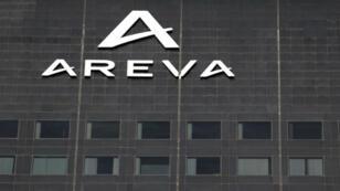 Façade de l'immeuble Areva dans le quartier de La Défense, à l'ouest de Paris.