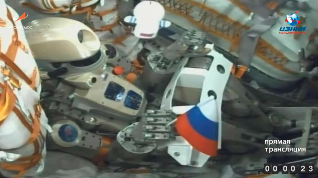 El androide ruso bautizado como Fiódor espera el despegue de la nave Soyuz en el cosmódromo de Baikonur en Kazajastán el pasado 22 de agosto de 2019