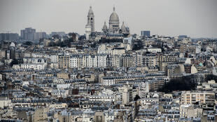 Vue de la butte Montrmarte, dans le 18e arrondissement de Paris.