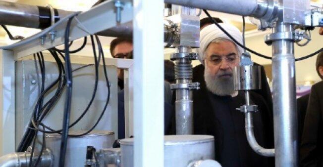 روحاني في اليوم الوطني للتقنية النووية بطهران 9 أبريل/نيسان 2018