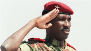 Thomas Sankara, le 31 août 1986, à Harare, au Zimbabwe.