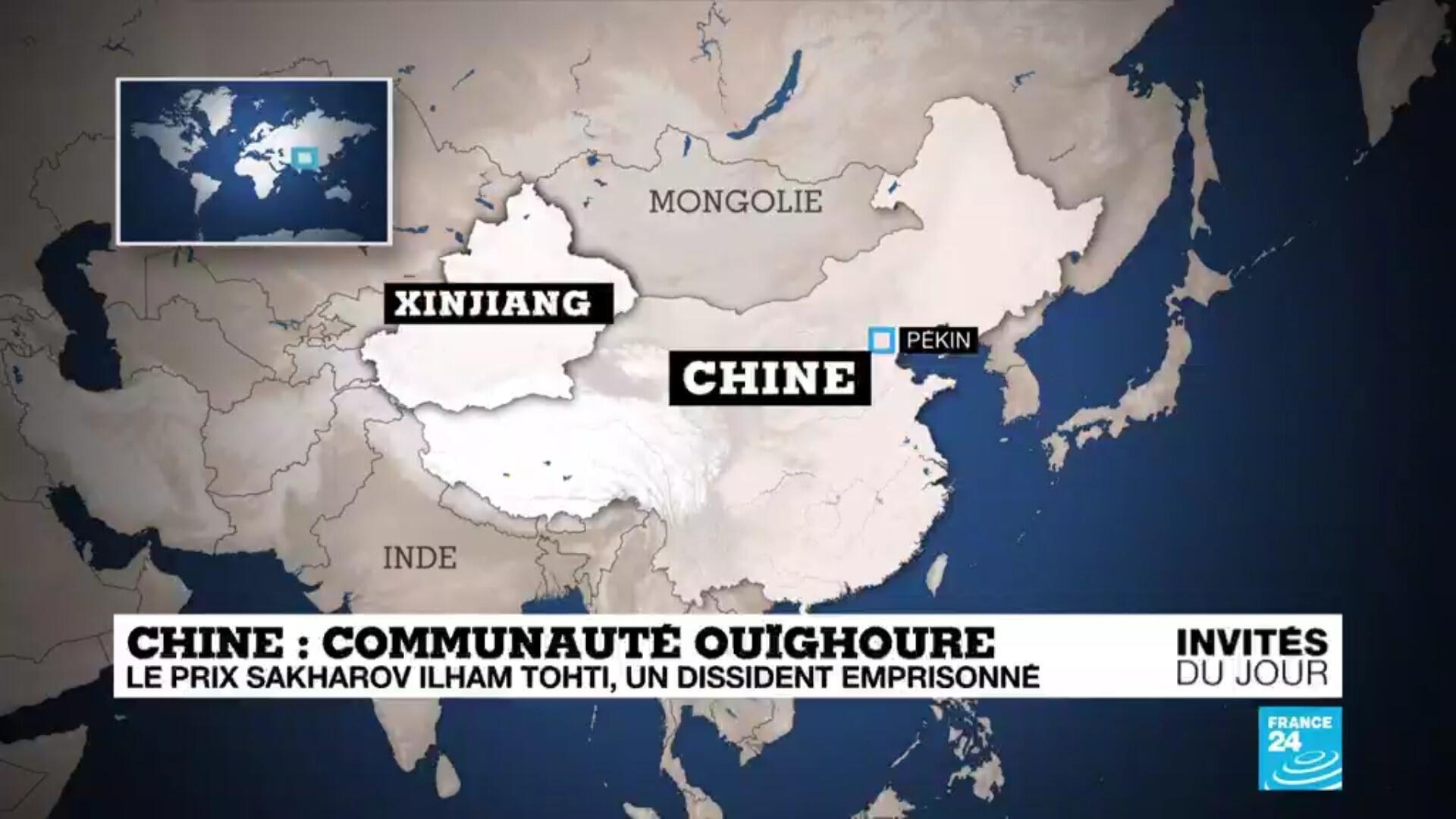 Carte du Xinjiang en Chine