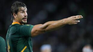 Eben Etzebeth, le 4 octobre, lors du match des Springboks contre l'Italie.