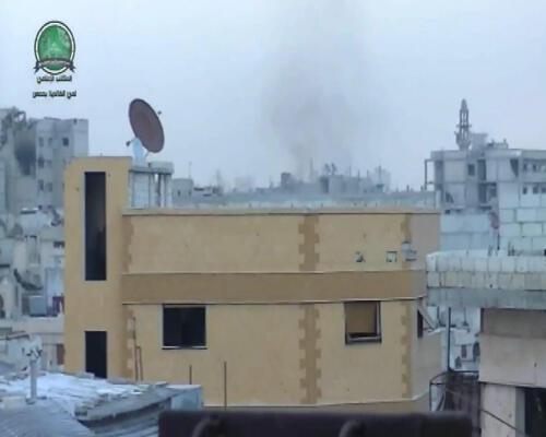 صورة لمدينة حمص السورية التي تحولت إلى مدينة أشباح بسبب العنف