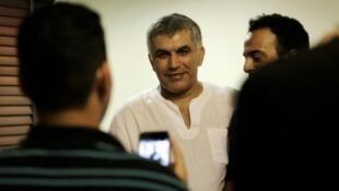 المعارض البحريني نبيل رجب في المنامة في 11 شباط/فبراير 2015