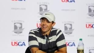 Northern Ireland's Rory McIlroy meets the press on the eve of the 2019 US Open Golf Championship at Pebble Beach
