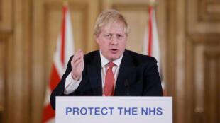 رئيس الوزراء البريطاني بوريس جونسون. لندن 22 مارس/آذار 2020.