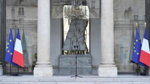 L'Élysée, le 15 mai, juste avant l'annonce de la nomination d'Édouard Philippe à Matignon.