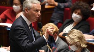 Le ministre de l'Économie et des Finances, Bruno Le Maire, lors des questions au gouvernement, le 21 juillet 2020 à l'Assemblée nationale à Paris