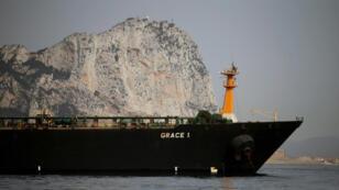 ناقلة النفط الإيرانية غريس 1 المحتجزة في مضيق جبل طارق. 20 تموز/يوليو 2019