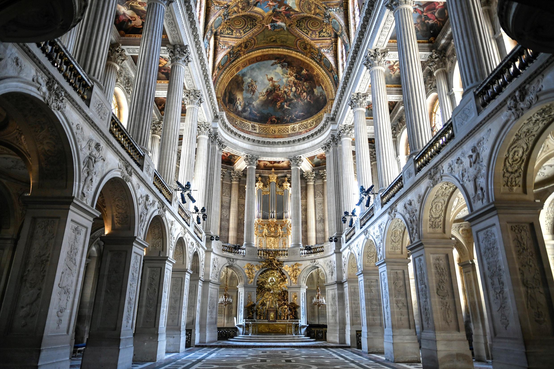 La chappelle royale du chateau de Versailles rénovée le 6 avril 2021