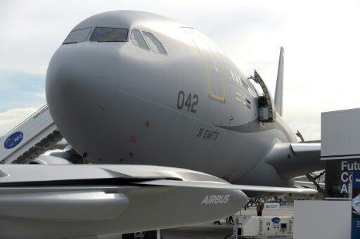 """طائرة من طراز """"إيه 330"""" في معرض باريس الجوي في مطار لوبورجيه قرب باريس في 19 حزيران/يونيو 2019."""