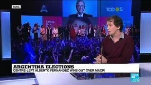 """2019-10-28 13:38 Javier Zorrilla de San Martin on France 24: """"The last four years were very harsh for the Argentinian society"""""""