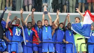 Les Bleuets ont totalement dominé leurs adversaires italiens, dimanche 24 juillet 2016, en finale de l'Euro des moins de 19 ans.
