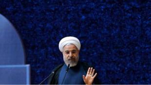 صورة نشرها الموقع الإلكتروني للرئاسة الإيرانية للرئيس حسن روحاني